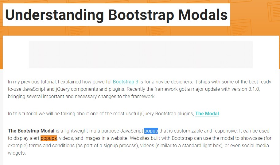An additional  handy  information  regarding to Bootstrap Modal Popup