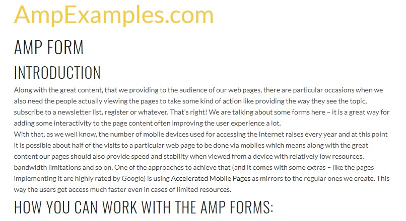 Let us  inspect AMP project and AMP-form  component?