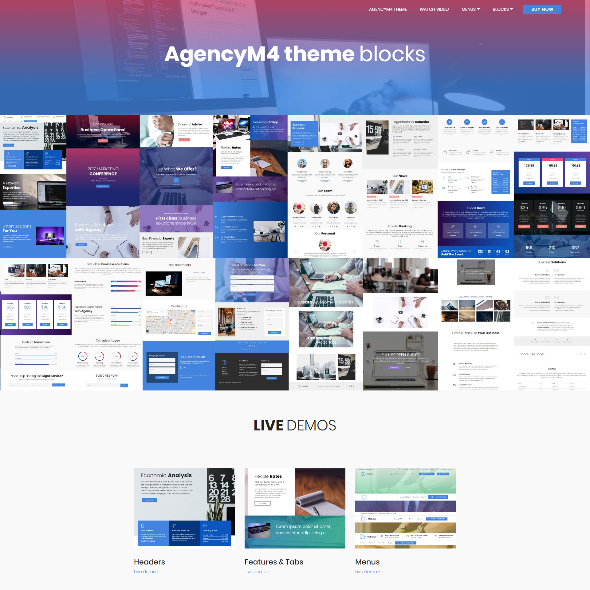 Free Download Bootstrap AgencyM4 Themes