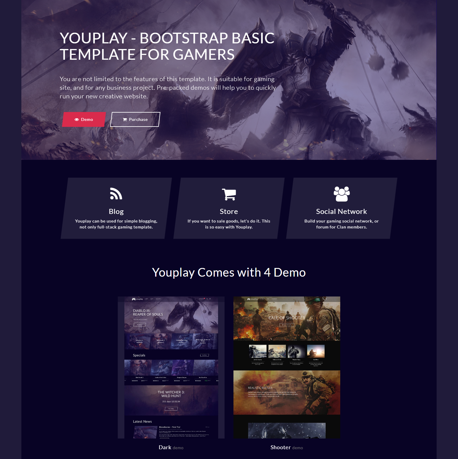 Free Bootstrap YouPlay Templates
