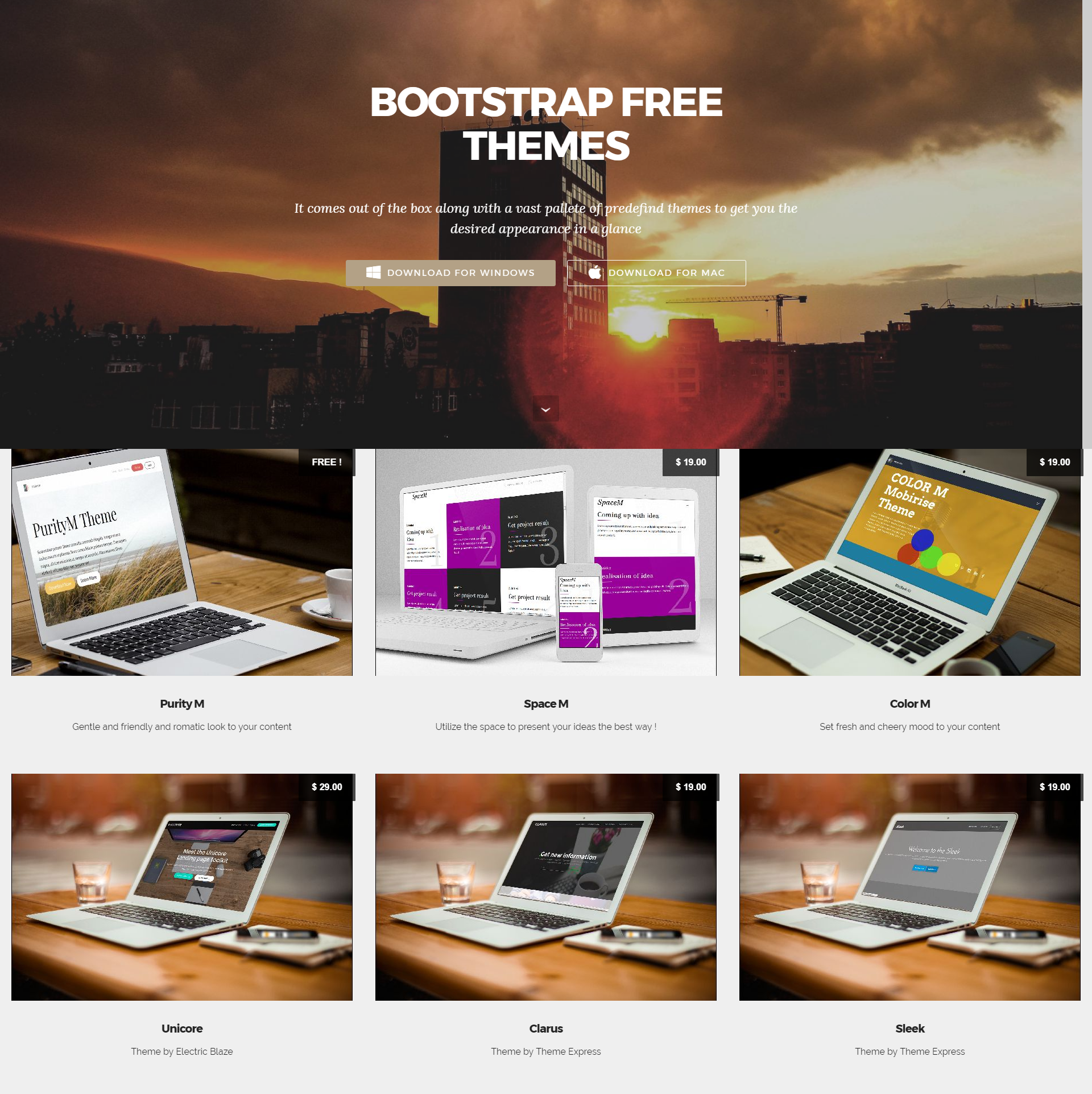 HTML Bootstrap Themes