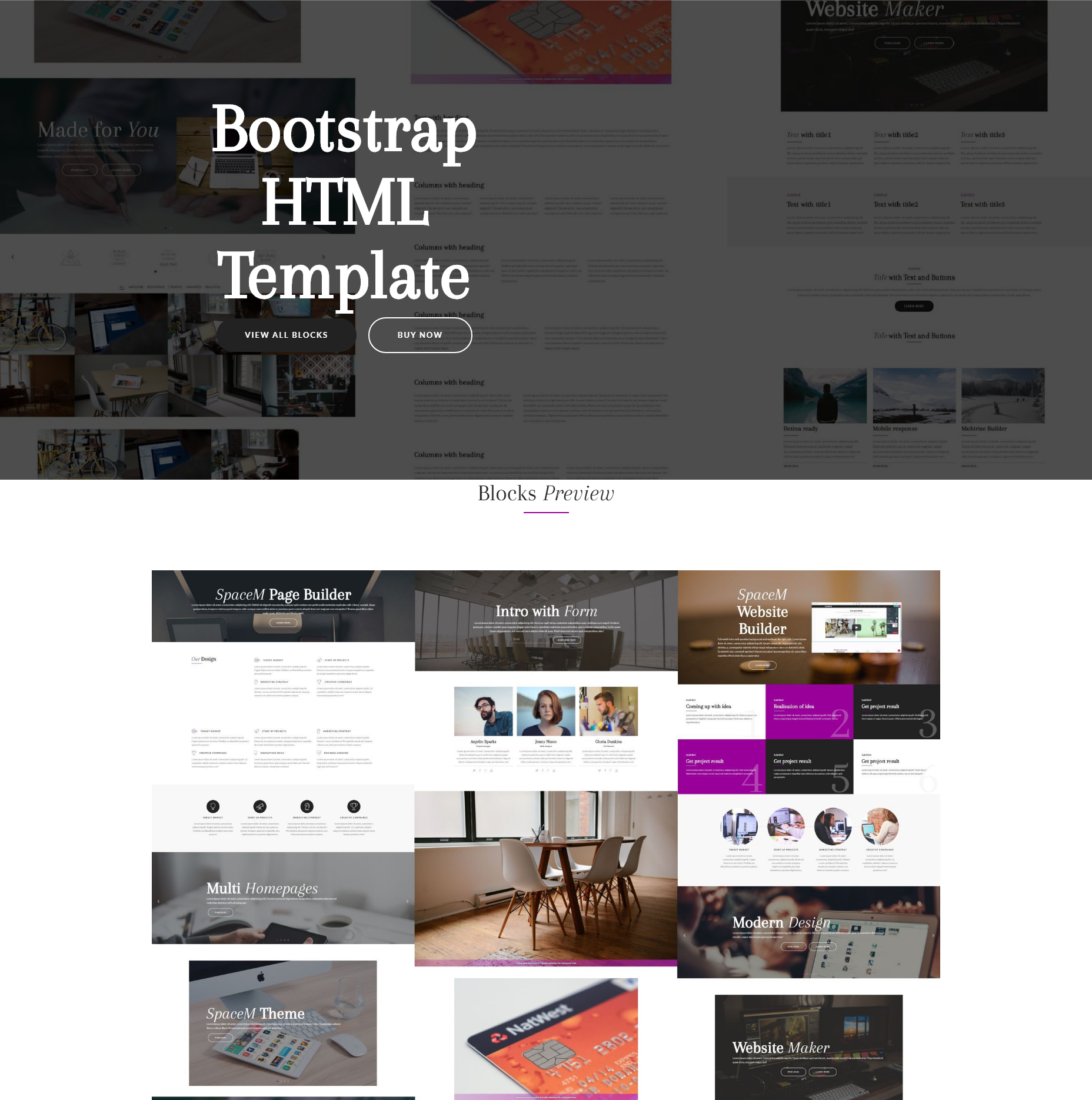 CSS3 Bootstrap HTML Themes