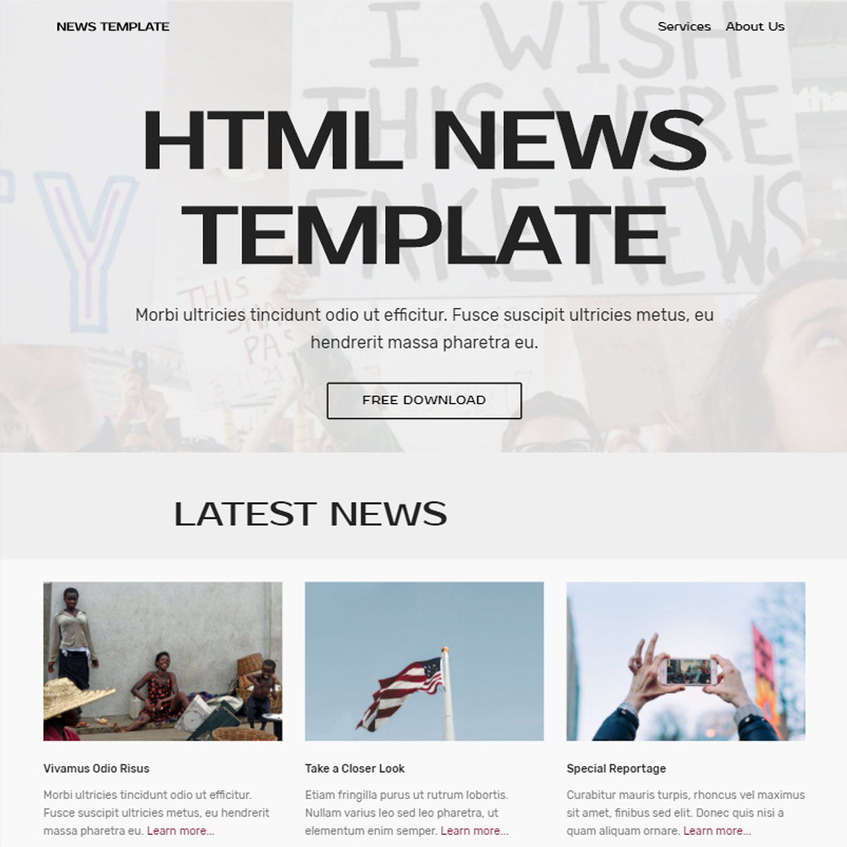HTML5 Bootstrap News Themes