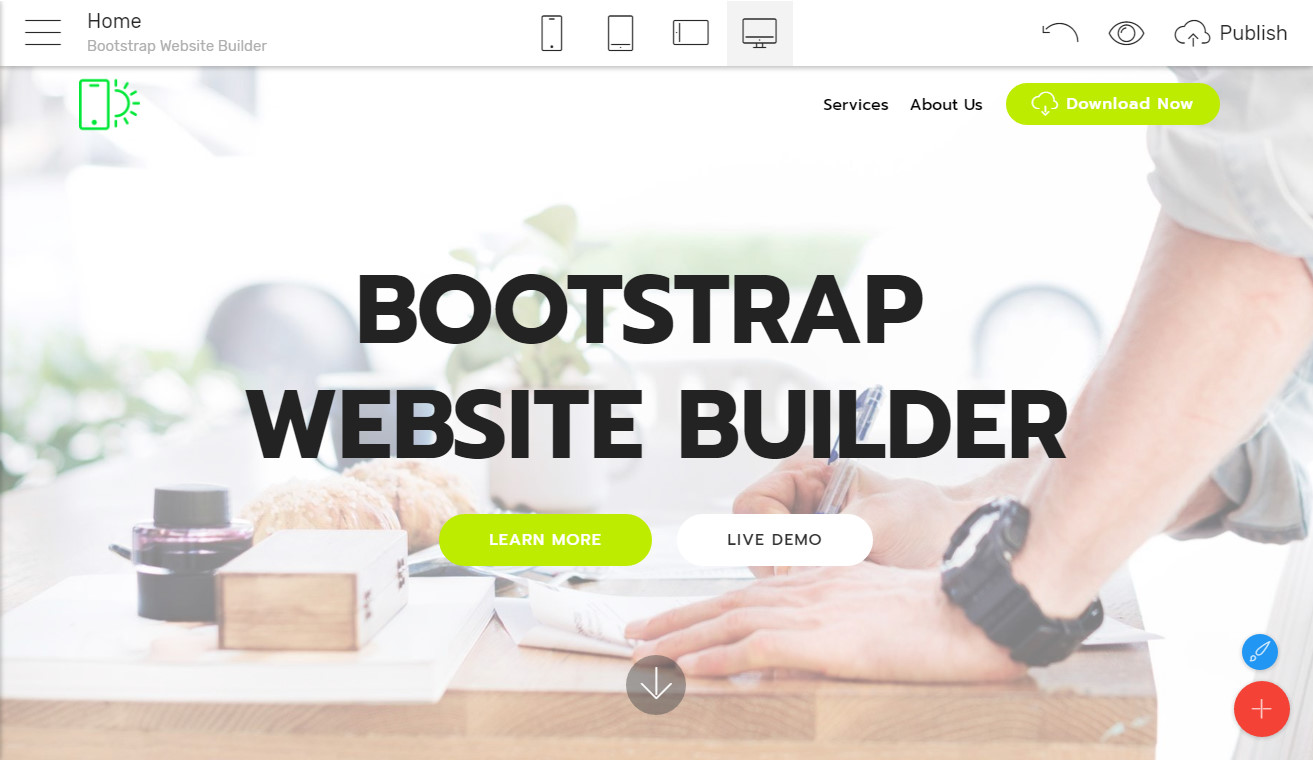 bootstrap website builder free