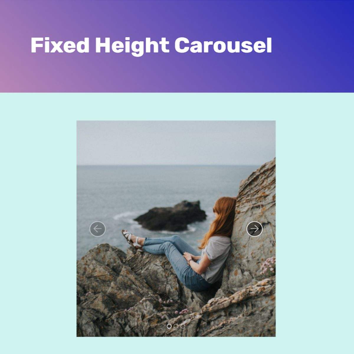 Bootstrap Fixed Height Carousel