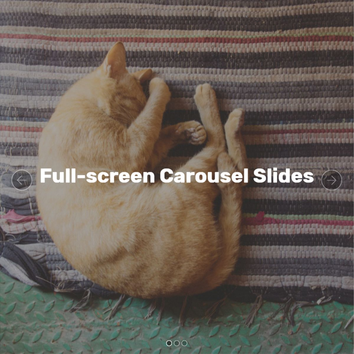 Bootstrap Full-screen Carousel Slides