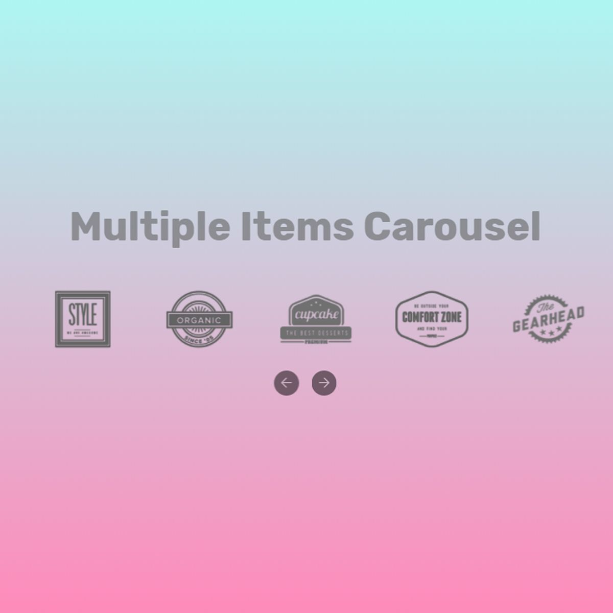 Bootstrap Multiple Items Carousel