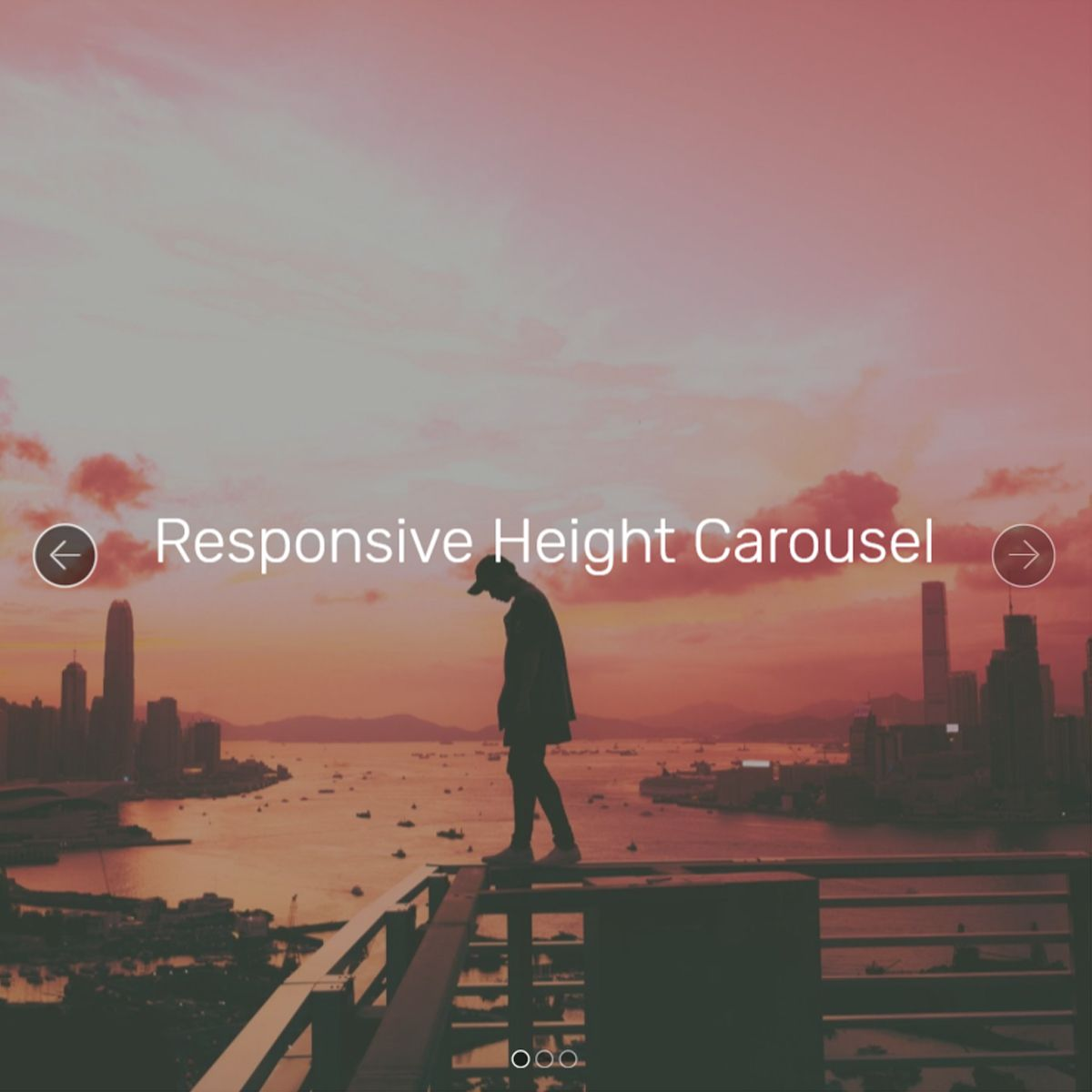 Bootstrap Responsive Height Carousel