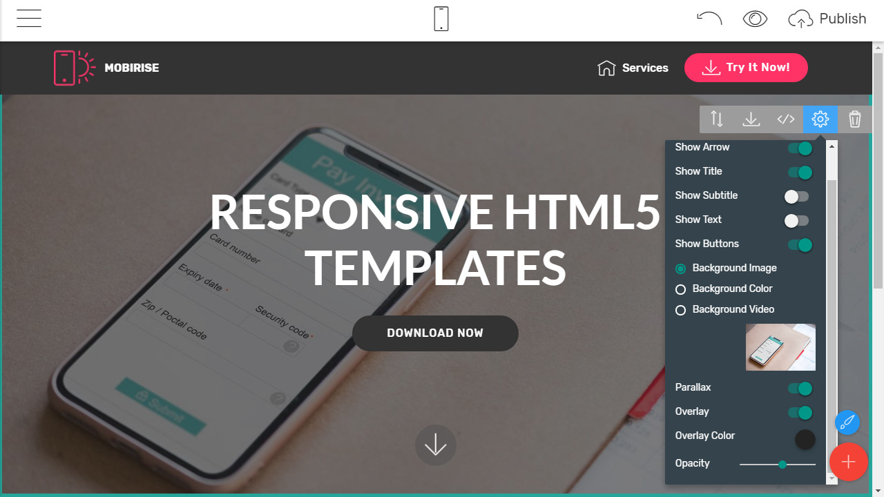 free bootstrap templates creator