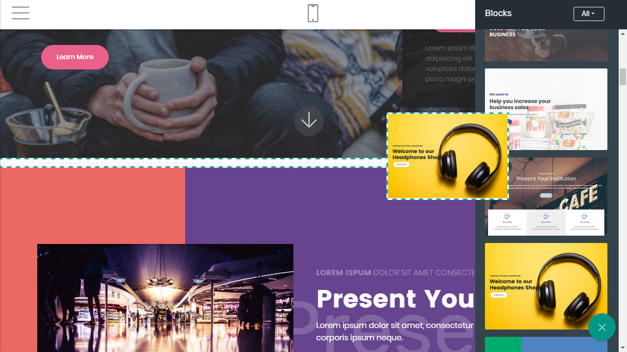 responsive video background template