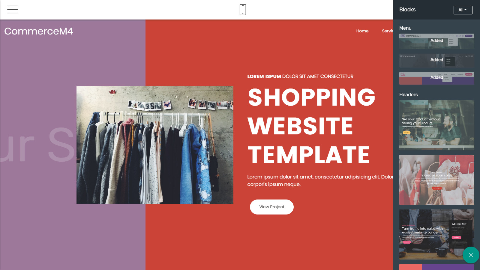shopping website template