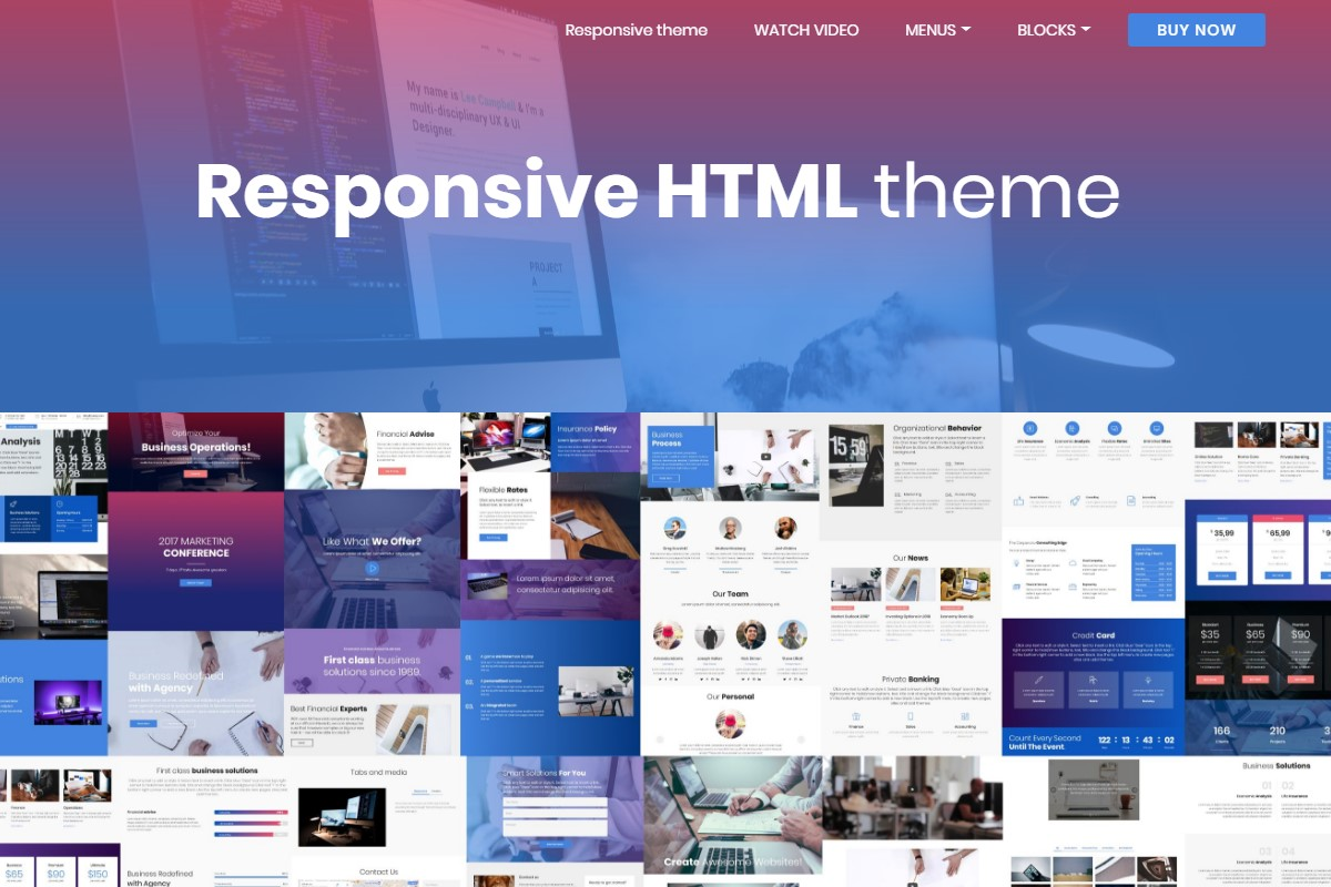 HTML Website Themes