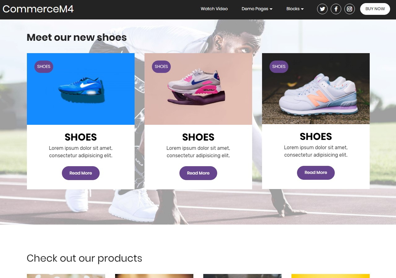 Features Template for eCommerce Website