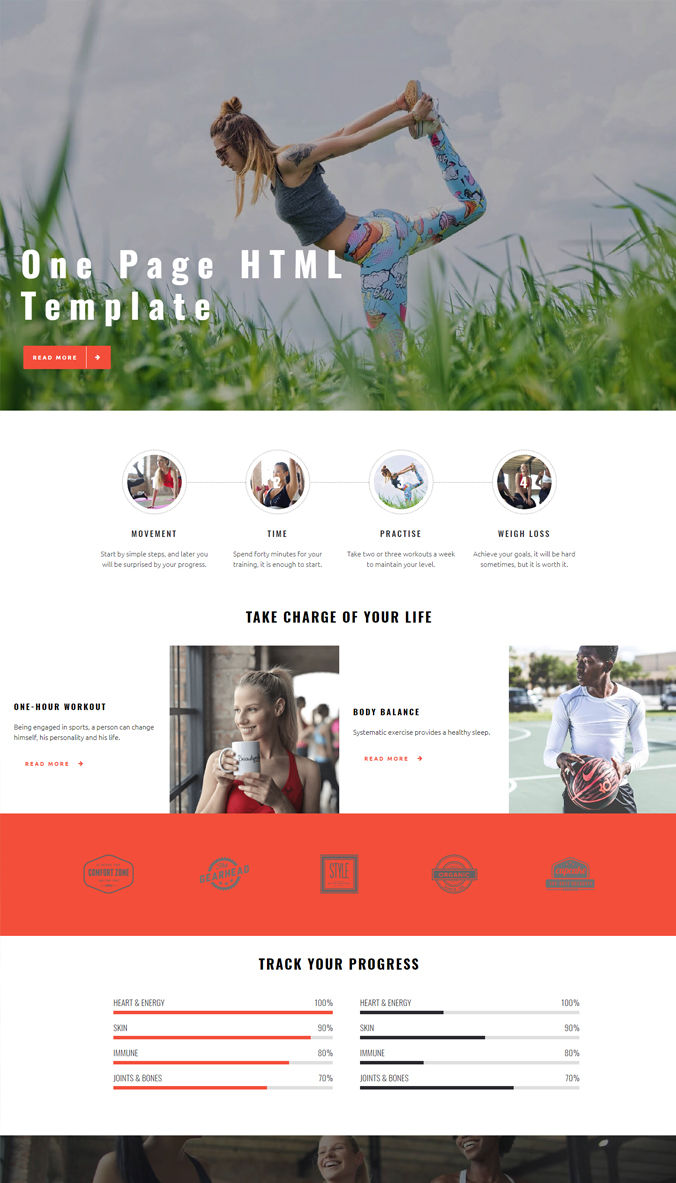 One-Page Simple Template