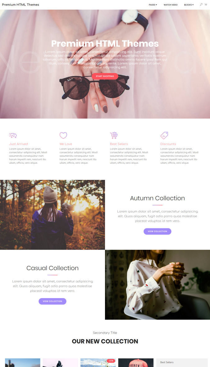One-Page Bootstrap Template