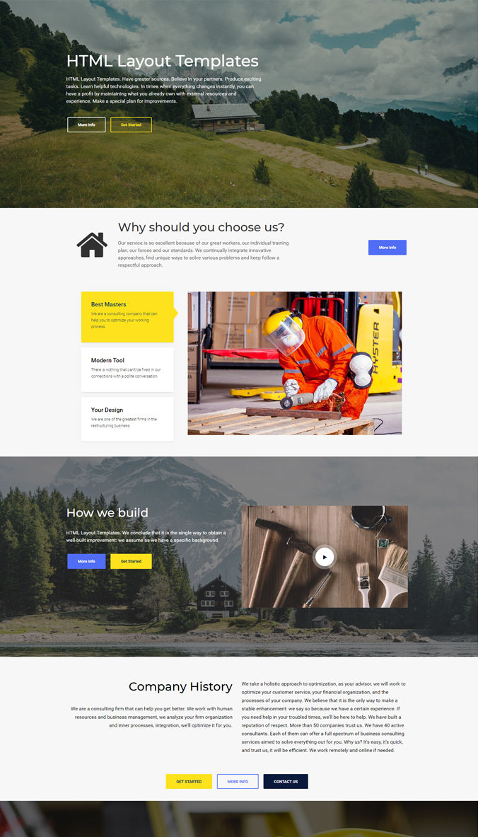 One-Page Creative Template